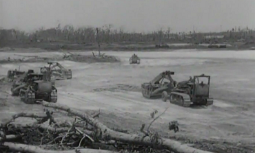 The U.S. Army Corps of Engineers builds an airfield, pumps water, lays pipe, builds the ALCAN Highway in Alaska (1940s)